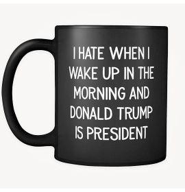 Morning And Donald Trump Is President Mug - Black
