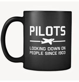 Pilots Looking Down on People Since 1903 Mug - Black