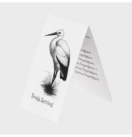 Doula Services Stork Business Cards