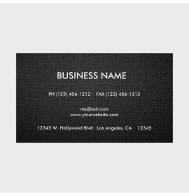 Elegant & Modern Black and Gold Professional Business Card