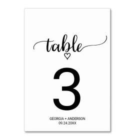 Elegant Gold Calligraphy Wedding Table Number