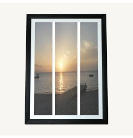 Doctor's Cave Beach, Jamaica Sunset 3 Split Panels Canvas Print