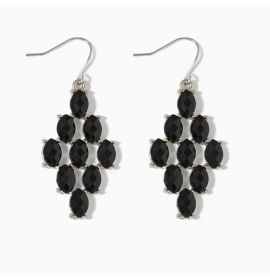 Earring Diamond-Black