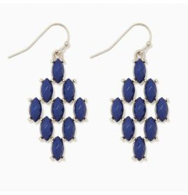 Earring Diamond-Blue