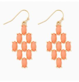 Earring Diamond-Orange