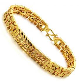 Gold mens bracelet