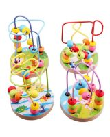 Baby Kid Toys Wooden Around Beads