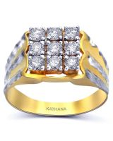 Baguette Diamond Rhodium Over Brass
