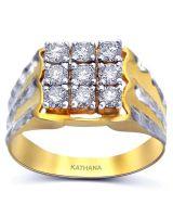 Baguette Diamond Rhodium Over Brass